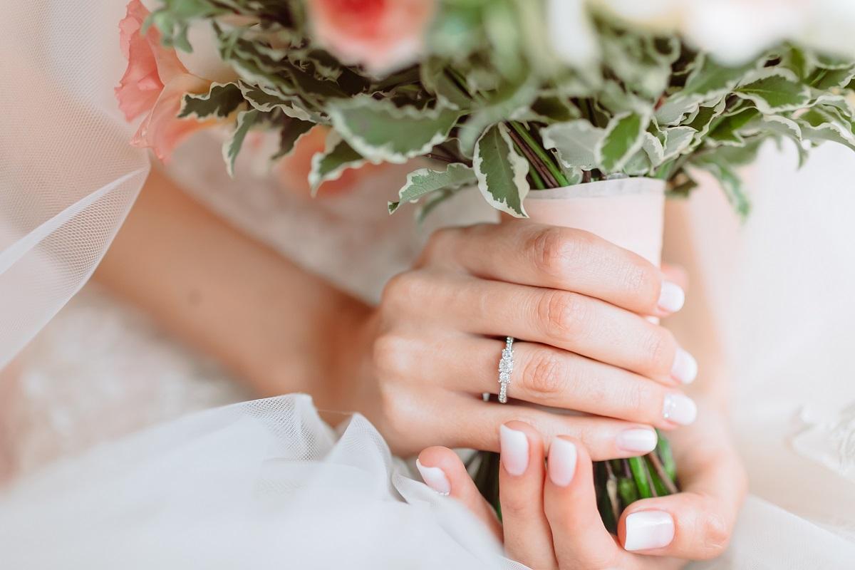 Bride wearing ring