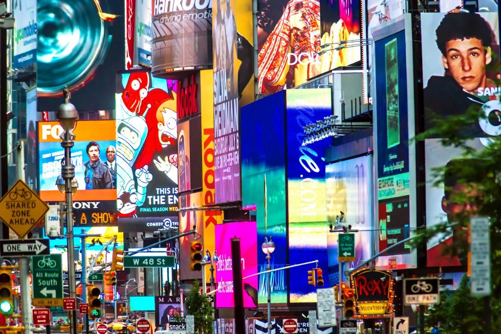 neon billboards