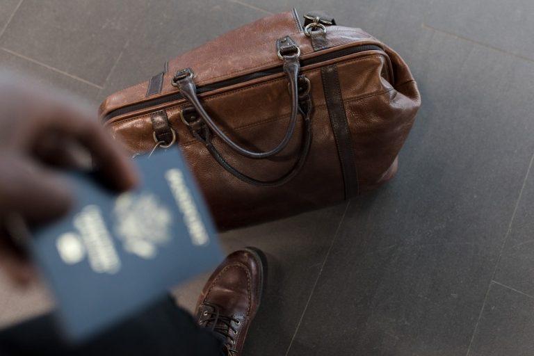 passport and luggage