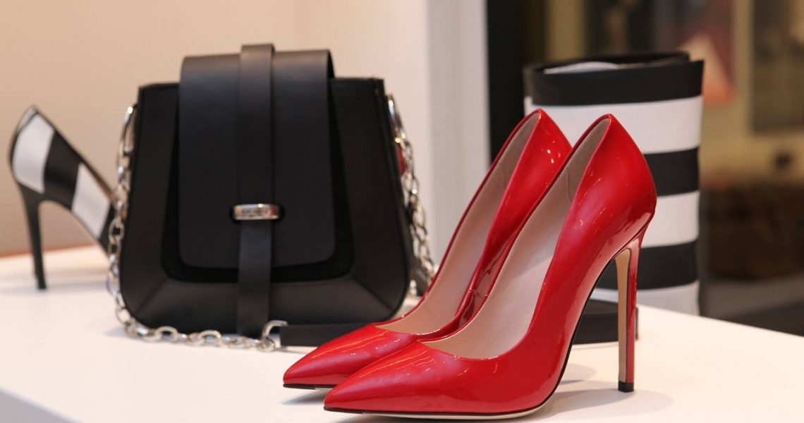 expensive shoes and purse